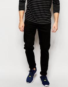 Черные эластичные джинсы слим Replay Anbass - Чистый черный