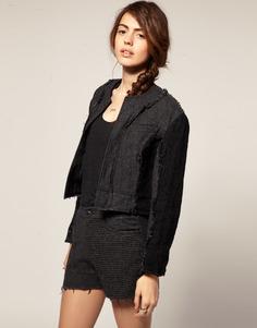 Укороченная куртка с шерстяными вставками Blaak для ASOS - Серый