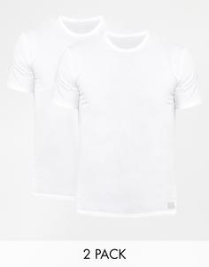 Комплект из 2 футболок классического кроя с круглым вырезом Calvin Klein - Белый