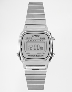 Серебристые цифровые часы Casio LA670WEA-7EF - Серебряный