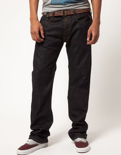 Темные свободные джинсы Replay Billstrong - Синий