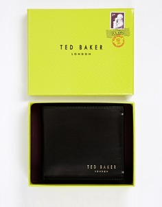 Кожаный складной бумажник с отделением для монет Ted Baker Harvys - Черный
