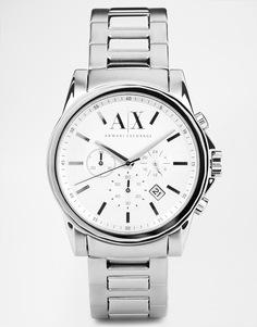 Часы из нержавеющей стали Armani Exchange AX2058 - Серебряный