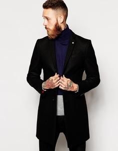 Шерстяное пальто Noose & Monkey - Черный