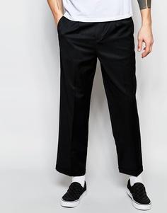 Строгие полушерстяные брюки с широкими штанинами ASOS - Черный