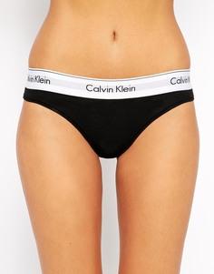 Хлопковые плавки-бикини Calvin Klein - Черный