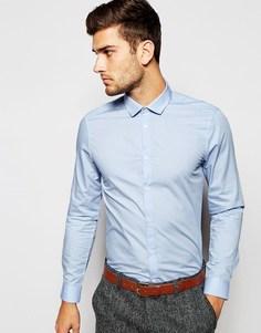 Строгая рубашка с длинными рукавами ASOS - Светло-голубой