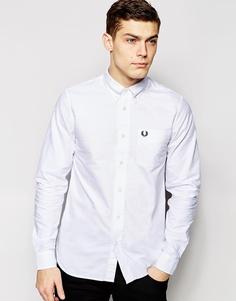 Белая оксфордская рубашка зауженного кроя Fred Perry - Белый