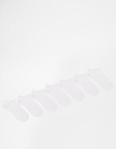 Набор из 7 пар белых спортивных носков ASOS -
