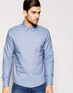 Небесно-голубая рубашка-оксфорд с длинным рукавом ASOS - Синий
