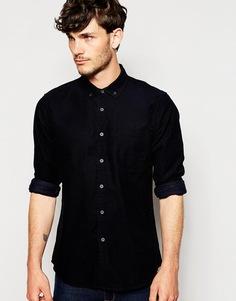 Вельветовая рубашка с длинными рукавами ASOS - Темно-синий