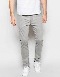 Светло-серые эластичные джинсы слим ASOS - Светло-серый
