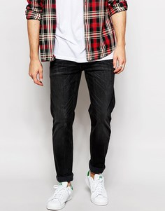 Эластичные черные джинсы слим ASOS - Выбеленный черный