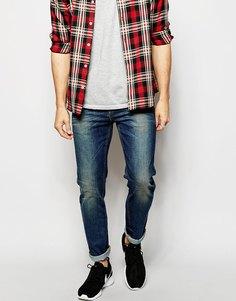 Темные узкие джинсы ASOS - Темный синий