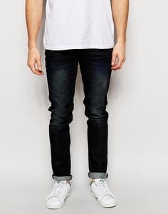 Темные зауженные джинсы ASOS - Темный синий