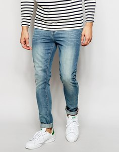 Светлые джинсы скинни ASOS - Светло-голубой