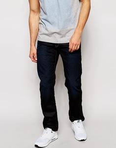 Состаренные прямые джинсы цвета темного индиго G‑Star Jeans 3301 Hydrite - Синий