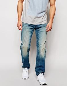 Светлые свободные джинсы G-Star 3301 - Синий