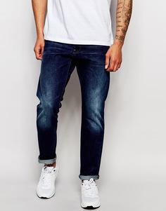 Темные состаренные суженные джинсы G‑Star Stean Wisk - Синий