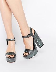 Босоножки на каблуке ASOS HIT THE JACKPOT - Голограмма