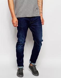 Темные состаренные узкие джинсы G-Star Arc 3D Wisk - Синий