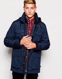 Куртка с капюшоном 2 в 1 Bellfield - Темно-синий