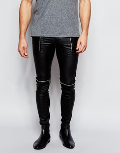 Супероблегающие байкерские джинсы ASOS - Черный