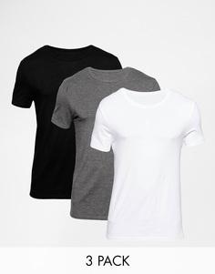 3 облегающие футболки с круглым вырезом ASOS -