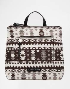 Рюкзак с верхом и передним карманом на молнии Fiorelli Brodie - Шероховатая ткань