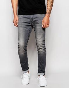 Черные эластичные джинсы скинни Jack & Jones - Выбеленный черный