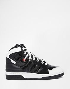 Черные высокие кроссовки adidas Originals Instinct - Черный