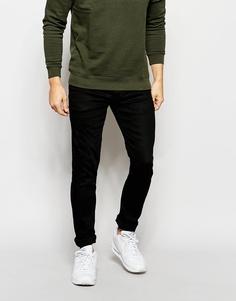 Черные джинсы слим с покрытием Jack & Jones - Черный