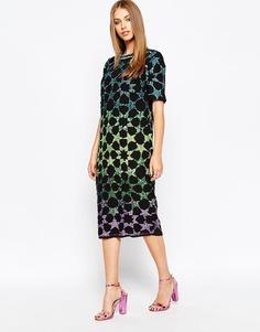 Платье-футболка с эффектом омбре ASOS - Мульти