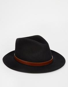 Мягкая фетровая шляпа Brixton Messer - Черный