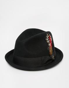 Мягкая фетровая шляпа Brixton Gain - Черный