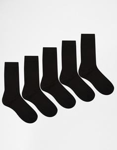 Комплект из 5 пар черных носков Urban Eccentrics - Черный