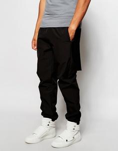 Узкие спортивные штаны со вставками из твида «Harris» ASOS - Черный