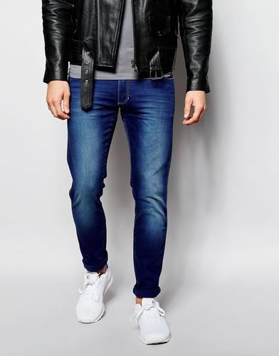 Облегающие джинсы Wrangler - Синий