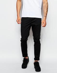 Черные облегающие брюки ASOS - Черный