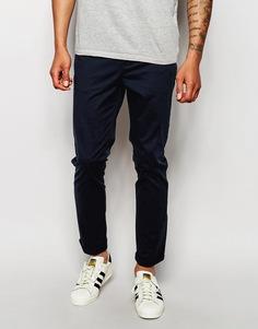 Облегающие темно-синие брюки ASOS - Темно-синий