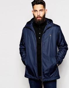 Утепленная куртка с капюшоном Farah - Темно-синий