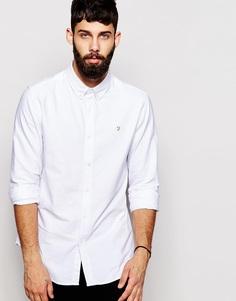 Классическая оксфордская рубашка Farah - Белый