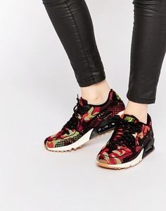 Кроссовки с камуфляжным принтом Nike Air Max 90 - Яркий цитрон
