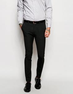 Темно-серые зауженные брюки ASOS - Угольный