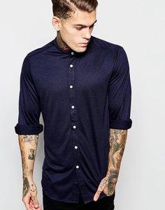 Трикотажная рубашка с длинными рукавами ASOS - Темно-синий