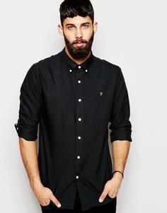 Классическая оксфордская рубашка Farah - Черные чернила
