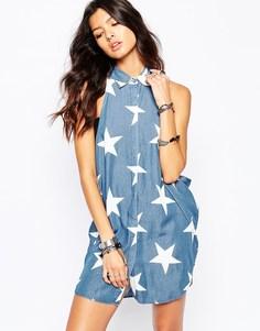 Платье-рубашка со звездами One Teaspoon Le Punk - Dallas