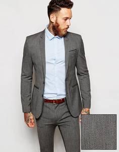 Пиджак суперзауженного кроя ASOS