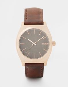 Часы Nixon Time Teller A045 - Коричневый