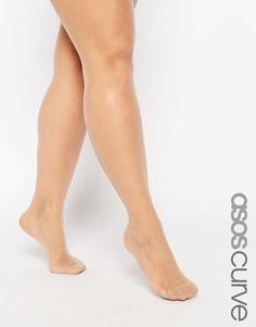 Телесные колготки 15 ден ASOS CURVE 'New Improved Fit' - Natural nude